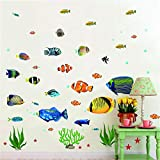 Fish Wall Stickers Under The Sea Decorative Wall