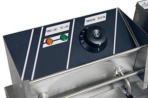 Clevr 11 Liter Capacity Commercial Stainless Steel Deep Fryer Machine 110v Double Two Tank Design by Clevr (Image #3)