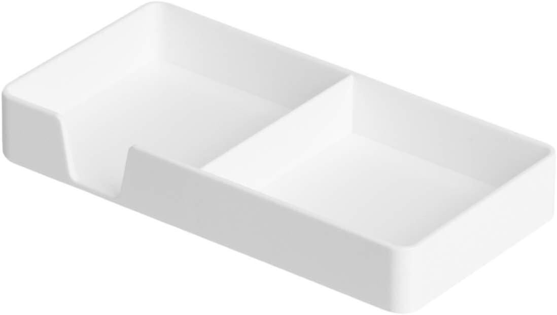 Basics Organiseur en plastique Porte-cartes de visite Blanc
