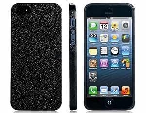 PP de plástico caso protector ultra fina textura para el iPhone 5 (Negro)