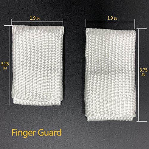 AllyProtect Fiber Glass Welding Tips TIG Finger Heat Shield 2 PCS PACKED (Size L & XL) by AP ALLYPROTECT.COM (Image #1)