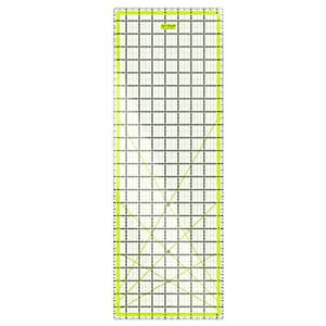 """ARTEZA Quilting Ruler, Laser Cut Acrylic Quilters' Ruler Patented Double Colored Grid Lines Easy Precision Cutting, 8.5"""" Wide x 24"""" Long Quilting, Sewing & Crafts, Black & Lime Green"""