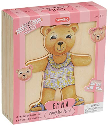 - Schylling Emma Moody Bear Wooden Puzzle