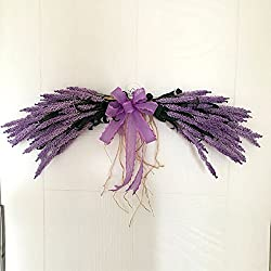 Adeeing 26-Inch Lavender Swag, Arch Wreath Centerpiece, Purple