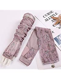 Arm Sleeves Sun Protection Arm Set UV Protection Breathable Lace Flower Driving Sunscreen Arm Sleeve Useful and Durable