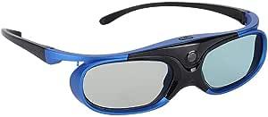 Sorand Lentes HD Gafas 3D, Obturador Activo Universal Tipo Gafas 3D DLP Link Proyector 3D Gafas 3D Proyector Lente HD Gafas 3D para proyector 3D
