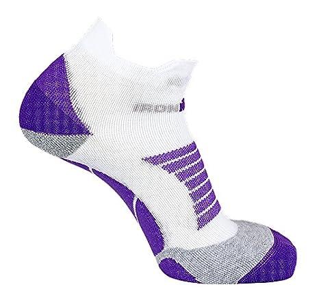 IronMan Pro - Calcetines de Running para Mujer, Talla 35-38, Color Blanco y Morado: Amazon.es: Deportes y aire libre