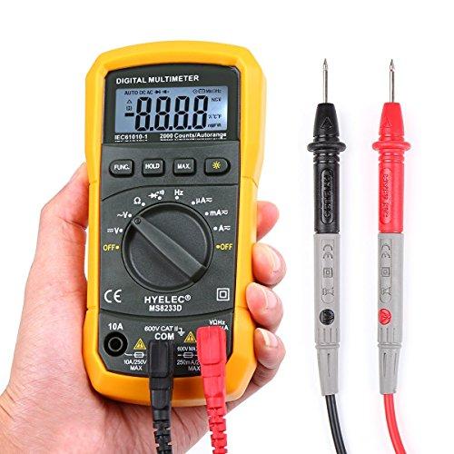 Digital Multimeter, Crenova MS8233D AC Spannungsprüfer Tragbare Prüfvorrichtung  Messung von Spannung Strom Widerstand Messinstrument mit Hintergrundbeleuchtung