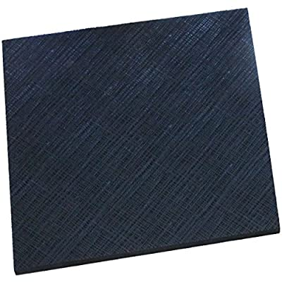 """Extra thick 15/64"""" black shoe soling repair rubber sheet for sole or heels"""