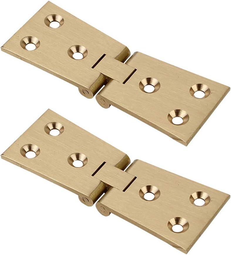 Tiazza - Bisagra plegable para máquina de coser, 2 unidades, latón envejecido, 180 grados, resistente, para muebles plegables