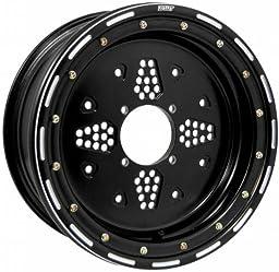 Douglas Rok N Lock Beadlock Utility Wheel 14x8 5+3 Offset 4/137 Black Black RL14085336BLK