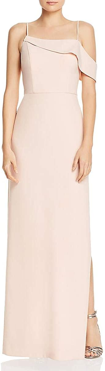 Laundry by Shelli Segal Women's Asymmetrical Crepe Column Gown