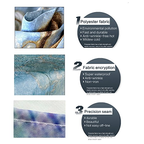 ECONIE Sea Turtle Shower Curtain Beach Theme Ocean Decor Bathroom Creature Landscape Shower Curtain Sets Vintage Polyester Fabric Waterproof for Bathroom Accessories with 12 Hooks,71 x 71(13)