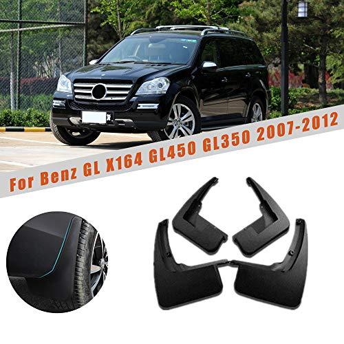 Autotoper Front Rear Mudguards For Mercedes Benz GL Class X164 GL450 GL350 2007-2012 4pcs Fender Mud Flap set ()