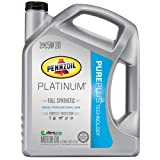 Pennzoil (550038332-3PK) Platinum 5W-20 Full Synthetic Motor Oil GF-5  - 5 Quart Jug, (Pack of 3)