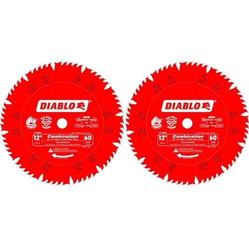 Diablo D1260X Freud 12-Inch by 60t 1in Arbor Combination Saw Blade (2 Pack)