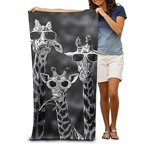Sunglass Giraffes 100% Polyester Beach Towel Chair (31