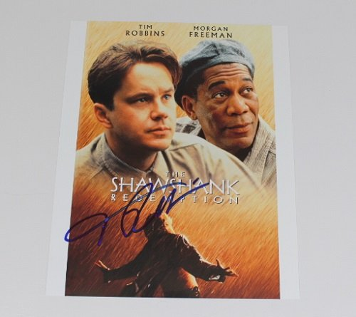 The Shawshank Redemption Tim Robbins Signed Autographed 8x10 Glossy Photo Loa
