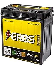 Bateria AGM Moto ERBS 12V 7Ah ETX 7BS DAFRA APACHE 150 HONDA BIZ 125 KS FUEL INJECTION MIX 125+ 100
