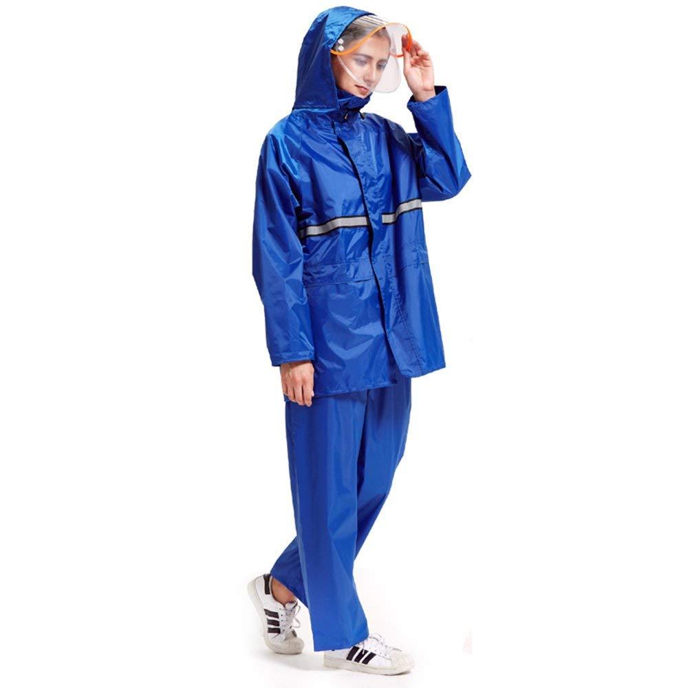 Female- 1 M XHCP Imperméable Clignotant - Polyester Pantalon de Pluie Split Set, Adultes mÂles et Femelles Marcher sur Pied épaississeHommest AugHommester PVC revêteHommest imperméable Poncho extérieur