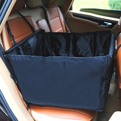 Travel Car Back Single Side Flap Dog Car Seat Cover Basket Protector Waterproof Pet Safety Dog Booster Seats Covers Dogs Carrier Durable Car Back Dog Car Seat Basket for Puppy Medium Small Dogs Cats