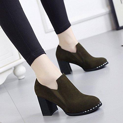 Botas Cortas Puntiagudas con Zapatos de Tacón Alto Y Zapatos de Mujer con Botas Descubiertas , negro , EUR36.5