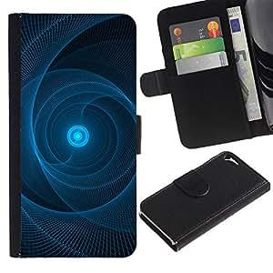 Billetera de Cuero Caso del tirón Titular de la tarjeta Carcasa Funda del zurriago para Apple Iphone 5 / 5S / Business Style Sun Pulsar Web Black Pattern