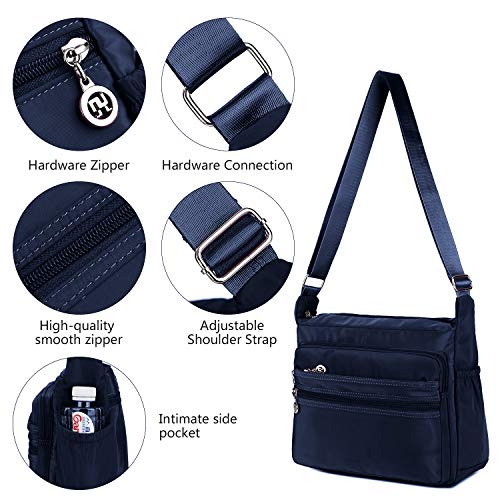 Crossbody Bag for Women Waterproof Shoulder Bag Messenger Bag Casual Canvas Purse Handbag (Small, Navy Blue) by NOTAG (Image #3)