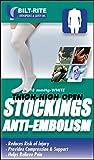 Bilt-Rite Mastex Health 10-73000-MD Thigh High Anti Embolism Stockings, White, Medium