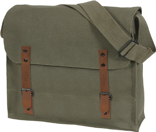 [Vintage Shoulder Medic Bag (Olive Drab, Plain)] (Army Medic Costumes)