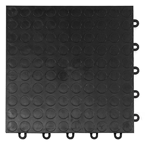 Greatmats Garage Floor Tile Cointop 1 ft x 1 ft x 5/8 in 24 Pack Black