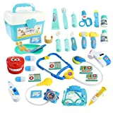 WTOR Toys 36PCS Medical Kits Pretend Play Doctor Toy Dentist Play Doctor Set Kids Play Set Girls Boys School Classroom, Easter Stuffers, Party Role Play