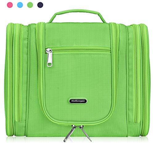 Heavy Duty Waterproof Hanging Toiletry Bag - Travel Cosmetic Makeup Bag for Women & Shaving Kit Organizer Bag for Men (Green - 259)