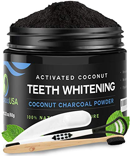 Activated Charcoal Teeth Whitening Powder [FREE Bamboo Toothbrush] Natural Whitening Teeth, Personal Coconut Charcoal
