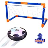 Geekper Hover Ball Toys with 2 Goals for Kids, Air Power Soccer Disc,Hover Soccer Football with Powerful LED light and Foam Bumpers for Indoor Games,Kids Toys,Boy and Girl Gifts
