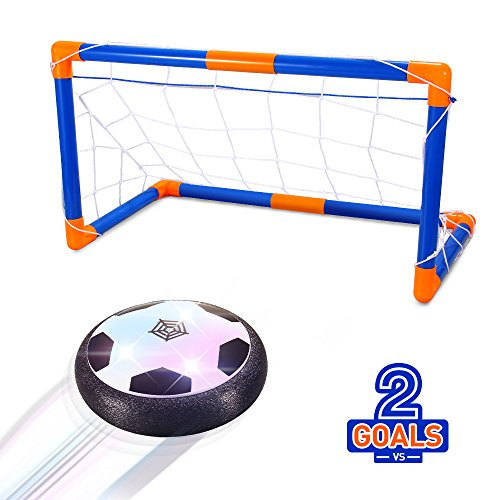 Geekper Ball Toys with 2 Goals for Kids, Air Disc,Hover Soccer Football with Powerful LED Light and Foam Bumpers for by Geekper