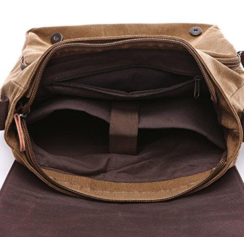 Schulter Diagonal Paket - Neue Mode Lässig Taschen Für Männer Und Frauen, Leinwand Rucksäcke, Praktische Business Computer Tasche, Große Kapazität Lässig Reisetaschen, Student Taschen, 5 Farben 1