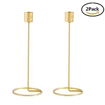 Gold Kerzenhalter Für Kegel Kerzen Hoch Dünne Metall Moderne  Tischdekoration Herzstück Hochzeit Kerzenständer, 2er Set
