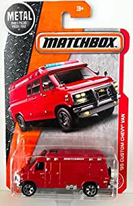Matchbox 2017 '95 Custom Chevy Van 87/125, Red