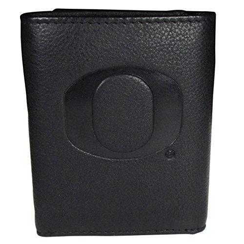 Siskiyou NCAA Oregon Ducks Embossed Leather Tri-fold Wallet ()