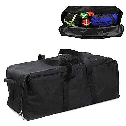 Extra Large Duffel Bag for Camping, Lightweight Waterproof Heavy Duty Cargo Gear Bag Big Equipment Bag Sport Oversized Travel Huge Rack Bag Luggage (Black, L)