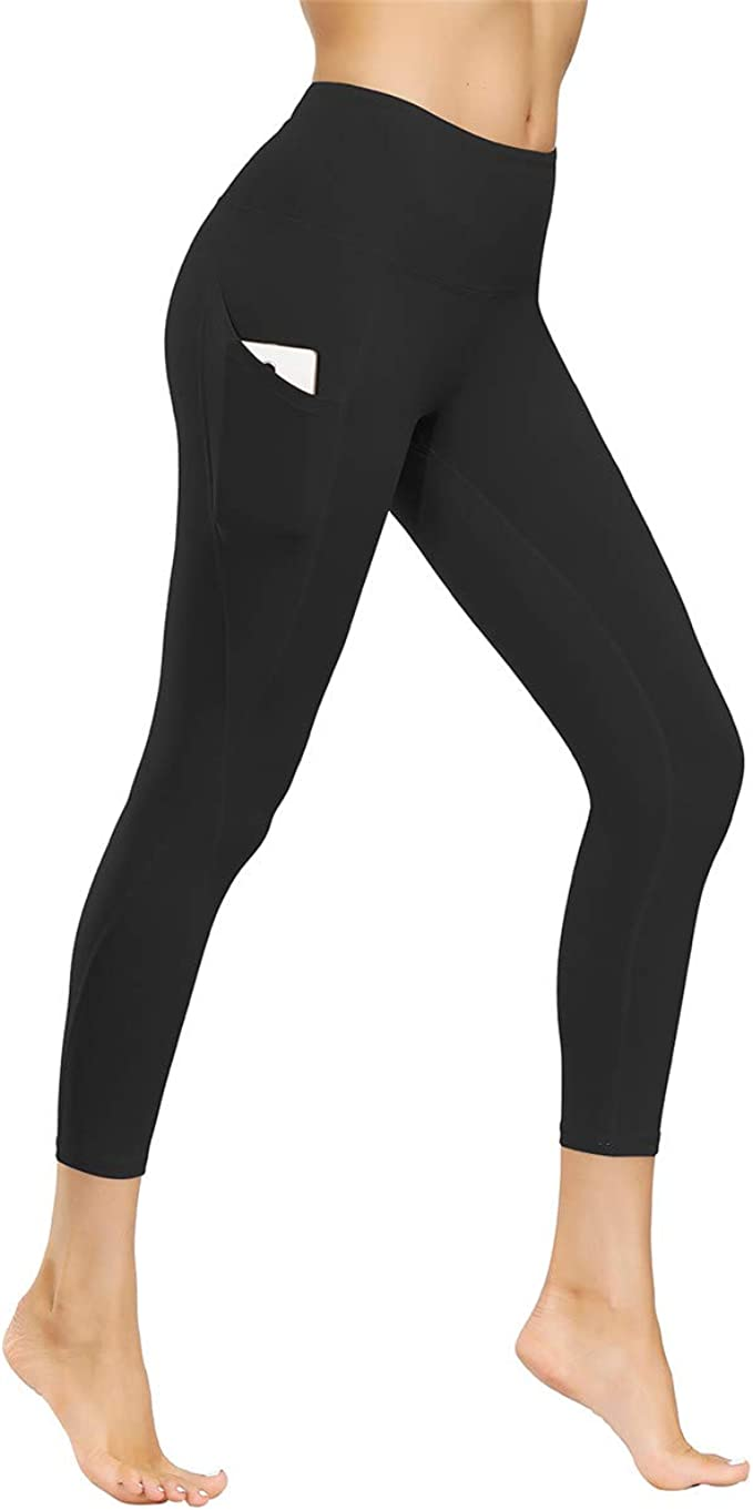 Kyopp High Waist Yoga Pants Tummy Control Workout Running 4 Way Stretch Yoga Leggings Women Capris Pants