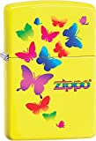 Colorful Butterflies Zippo Outdoor Indoor Windproof Lighter Free Custom Personalized Engraved Message Engraving on Backside