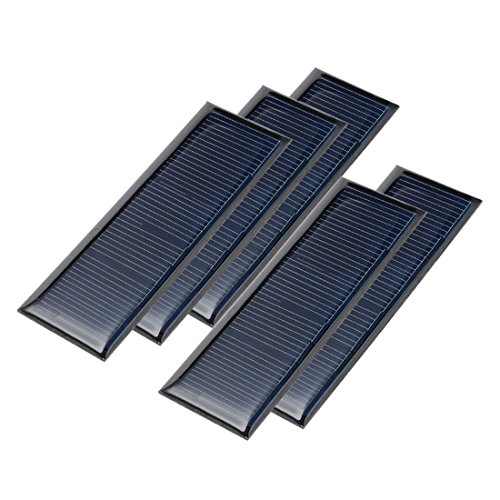 uxcell 5Pcs 5.5V 60mA Poly Mini Solar Cell Panel Module DIY for Light Toys Charger 90mm x 30mm