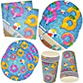 Pool Beach Summer Party Supplies Set Includes 24 9 Plates 24 7 Plates 24 9 Oz Cups 50 Lunch Napkins Luau Ball Water Tube Picnic Theme Birthday Parties Baby Shower Disposable Tableware Gift Boutique