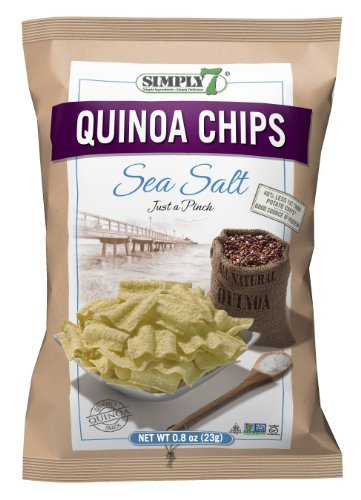 Simply 7 - Sea Salt Quinoa Chips Made with Clean Ingredients for a Healthy and Delicious Snacking - .8 oz (Pack of 24)