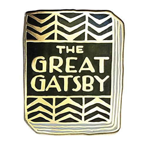 FLORIANA Book-Lover Lapel Pin - The Great Gatsby Enameled Book Cover - 1