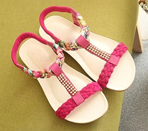 Sommer offene Sandalen weiche Oberfläche mit flachen Sandalen niedrige Weisefrauensandelholze College zu helfen red