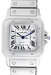 Cartier Santos de Cartier automatic-self-wind silver mens Watch W20055D6 (Certified Pre-owned)