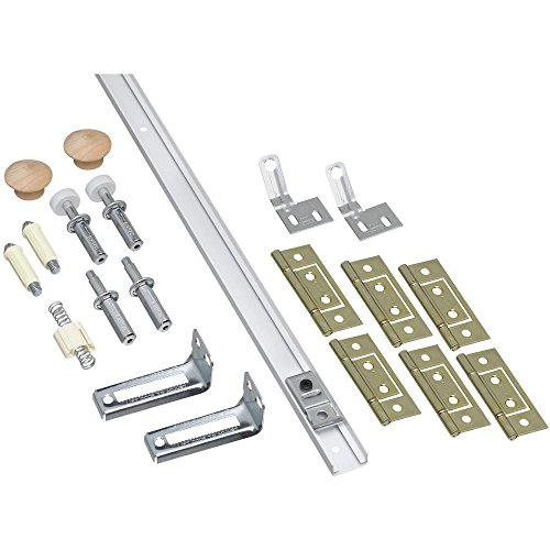 National Hardware N343-749 391D Folding Door Hardware Set in White (Fold Doors Bi Screens)